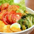 料理メニュー写真三ツ星ザンギのパワーサラダ