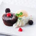 ♪♪デザートのご紹介♪♪濃厚フォンダンショコラとバニラアイス