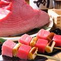 料理メニュー写真本マグロネギ間串(塩・たれ)