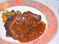 料理メニュー写真鴨肉のステーキ テンメンジャンソース