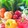 目利きの八百屋さんが仕入れた選りすぐりの旬の野菜は、その日のうちにサラダバーへ!