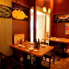 開放感あるテーブル席☆2H飲み放題付コースは3500円~ご用意!!