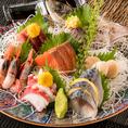 日本酒や焼酎と相性抜群の旬の鮮魚は当店自慢の逸品のひとつです!その季節いちばん美味しい海の幸をどうぞお愉しみください。