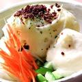 料理メニュー写真新名物!とりほのポテトサラダ