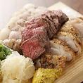 北海道厳選食材!!北海道産肉三種盛り1580円(税抜)