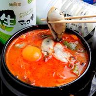 【季節のおすすめ】辛さは調節可能♪牡蠣純豆腐チゲ