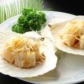 料理メニュー写真ホタテ貝のネギ醤油ソースかけ