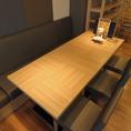 カジュアルな雰囲気テーブル席。ご友人とのプチ宴会に。