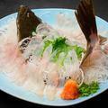 料理メニュー写真ヒラメの刺身