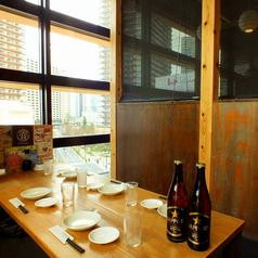 気の合う仲間との飲み会に人気のテーブル席