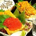 料理メニュー写真【名物】炙り箱盛りウニ/箱盛りイクラ/箱盛りウニイクラ