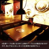 【広々した各個室】落ち着きある雰囲気の席が豊富です♪