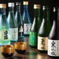 【鶏っくでは、九州各地の地酒をとり揃えています】