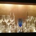 豊富なドリンクに合わせて、グラスも用意♪
