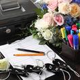 金庫の貸出やペンなどの貸し出しも可能です。幹事様のご負担を少しでも減らせるよう、最大限お手伝いさせて頂きます。