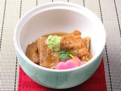 料理メニュー写真鴨の治部煮/穴子煮/茶わん蒸し/能登牛里芋煮