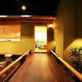 奥に進むとテーブル席がございます。個室としてもご利用頂けます。(5~12名様)贅沢な飲み会、接待、お昼の贅沢ランチ会などにおすすめ。