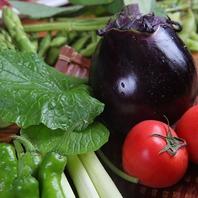 新鮮な産地直送野菜を使ったお料理