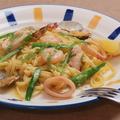 料理メニュー写真海の幸パスタ
