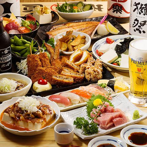 刺身、お寿司、一品料理などの海鮮料理と美味しいお酒をご用意しております!