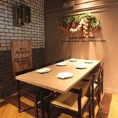 プライベート感あるテーブル個室は女子会や合コン、ママ会などに◎人数に応じて広げる事も可能!
