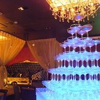 シャンパンタワーで宴会も更に盛り上がる!最大200名