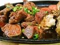 料理メニュー写真プレミアムビーフの鉄板焼き