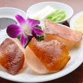 料理メニュー写真自家製炉焼き 北京ダック