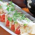 料理メニュー写真豆腐とトマトとオニオンの和風サラダ