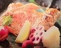 料理メニュー写真ノドグロ塩焼き(半身)