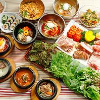 韓国料理や焼き肉が50種類食べ放題!
