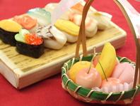 上生菓子 お寿司・果物