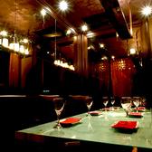 落ち着いた雰囲気のスタイリッシュな個室席は女子会や合コンにも人気!