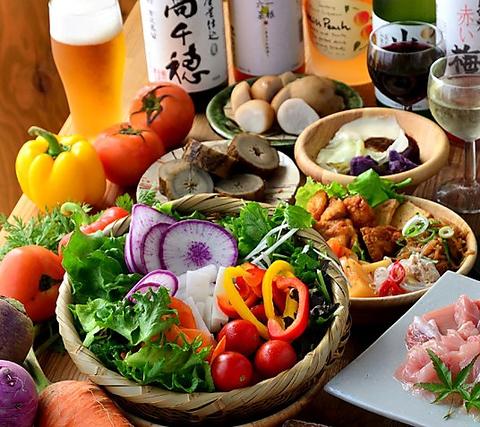 素材にこだわったヘルシー和食♪京野菜・おばんざい食べ放題をどうぞ!