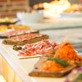 結婚式二次会・各種パーティーなど貸切時はビュッフェスタイルでご提供!コース料理は3500円~♪