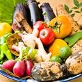 ◆ともすけのこだわり2◆自社卸によるお野菜は新鮮!創作串焼きや一品料理などで、旬のお野菜をお愉しみいただけます♪