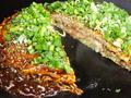 料理メニュー写真【広島お好み焼き】 肉玉そばorうどん