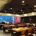 17階の夜景と共に!30名様~宴会スペース有☆会社宴会に最適な駅直結の立地と景色です!