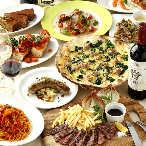 気軽にイタリアン♪ワインやビールにあう小皿料理からパスタ、ピッツァなど豊富!!