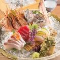 新鮮な食材多数!!季節に合わせた旬のお料理をご用意しております。季節を感じられるお料理を味と目で楽しんで頂け様にご提供致します。
