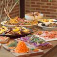 お料理内容は本格的な地中海料理をメインにご準備しております!骨付きのTボーンステーキは大人気!