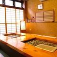 2階:炭火焼きのできる掘りごたつ個室。金沢/近江町市場直送の新鮮な魚介を炭火で堪能できます!