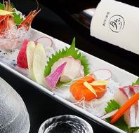 採れたて鮮魚の刺盛は単品でもコースでも提供可能