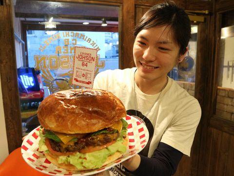 【約8名分超特大『絶品ハンバーガー』】パーティー専用!Super Big Burger!!6000円〜