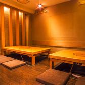 2Fの完全個室。掘りごたつ式で落ち着けます。4名~10名OKです。