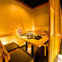 ◆2~4名様用個室◆少人数様から個室をご用意しております。