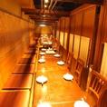 1F半個室テーブル席は繋げることも出来るので団体でも可◎座って頂ければ感覚は、ほぼ個室♪