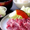 料理メニュー写真カルビ定食 120g