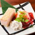 料理メニュー写真いちごのミルクレープ ストロベリーソース