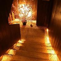 【個室】月灯りの下で一献…2名~最大32名個室ご用意。